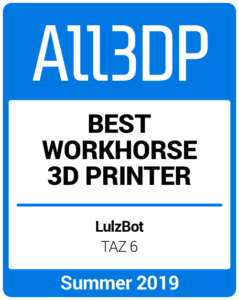 Best Workhorse 3D Printer Summer 2019 Lulzbot TAZ 6