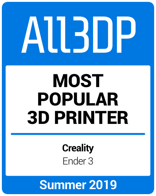 Most popular 3D Printer Summer 2019 Creality Ender 3