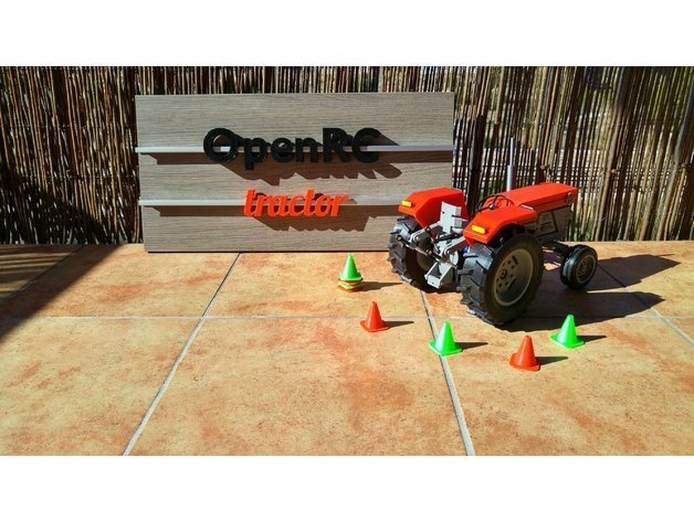 This OpenRC tractor is ready to roll.