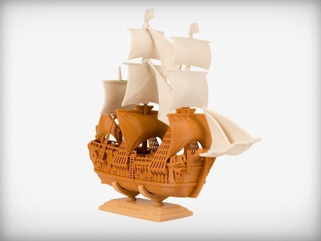 This great ship has been immortalized in plastic.