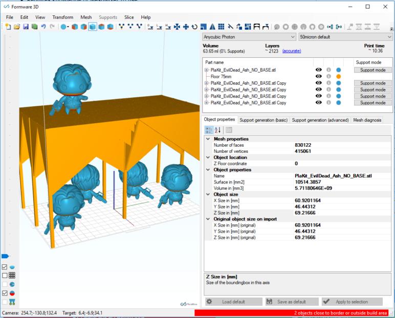 Floor structure in Formware 3D.