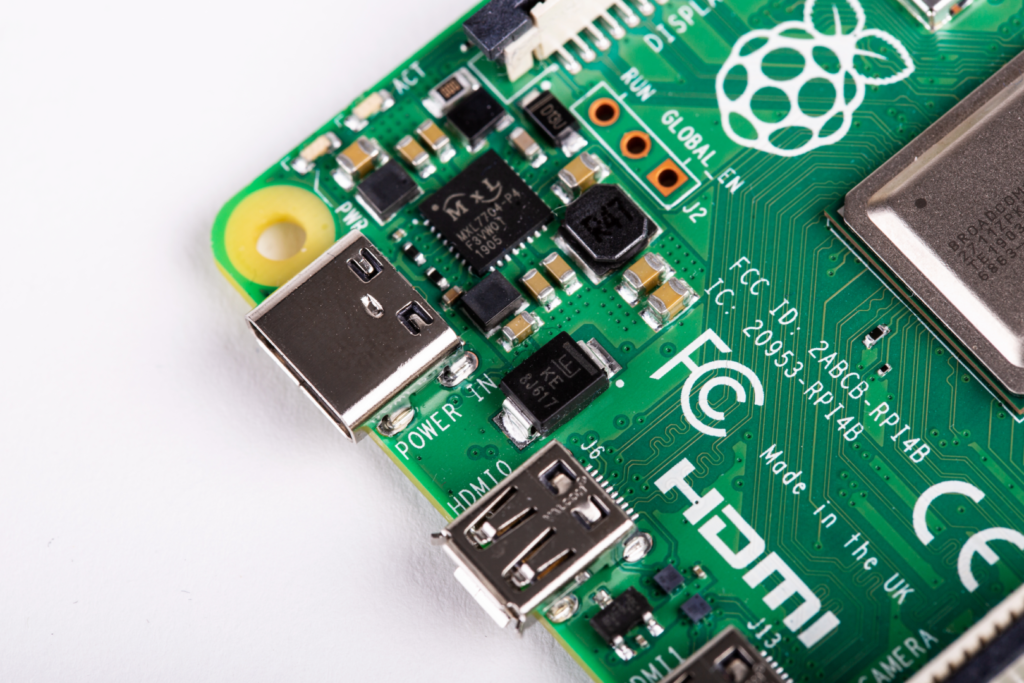 The dimensions of the Raspberry Pi 4 haven't changed, yet there are new connectors (image: Raspberry Pi)