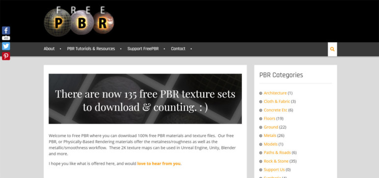 Free PBR Material's website.