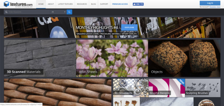 Texture.com, previously known as CGtextures.com.