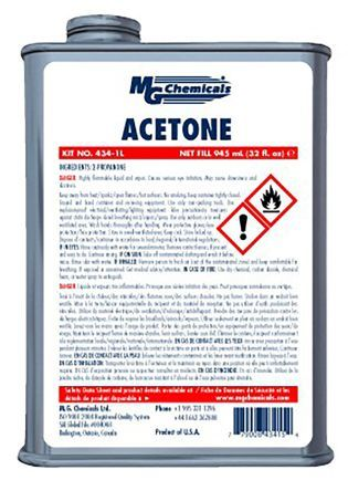 Though technically not a glue, this MG Chemicals Acetone will bond two surfaces.