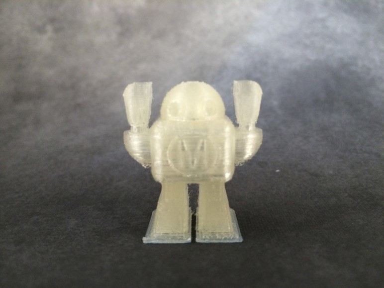 PLA's natural processing leaves a yellowish tinge on its filament.