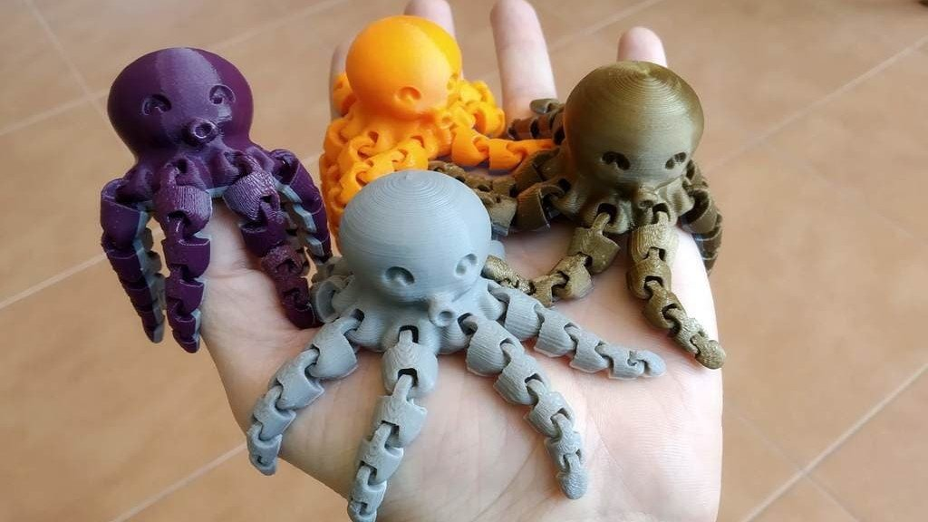 3D Printed Octopus – 8 Best Curated 3D Models | All3DP