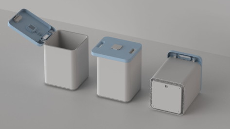 Featured image of Product Designer 3D Prints Smart Trash Can Prototype to Reduce Food Waste