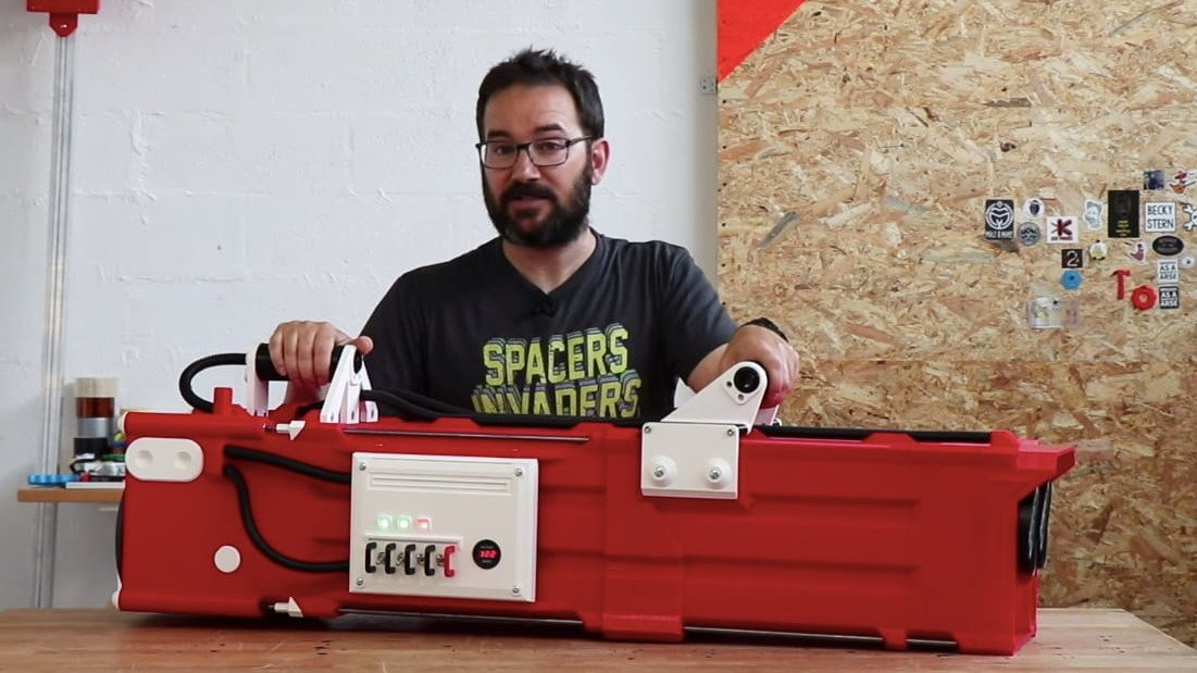 Featured image of YouTuber 3D Prints World's Largest Nerf Gatling Gun