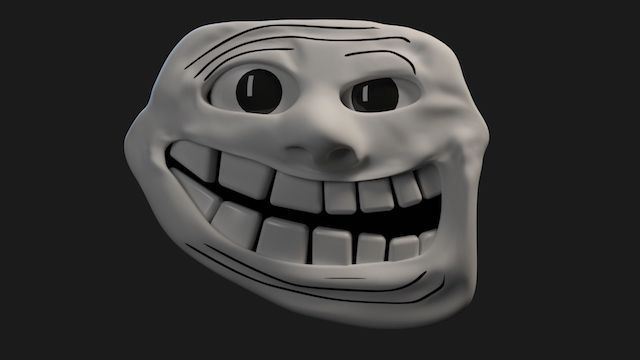3D Trollface inspired by so-called