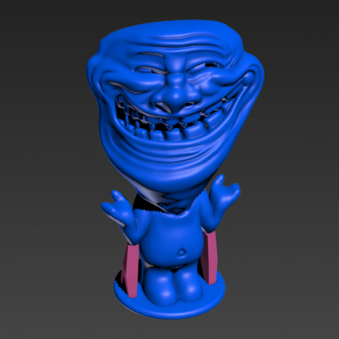 Trollface character is so popular the maker stopped selling prints and released the model to the public.