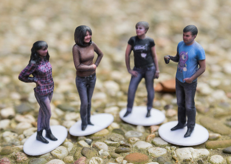 3D printed selfies are a fun way to use 3D body scanners!