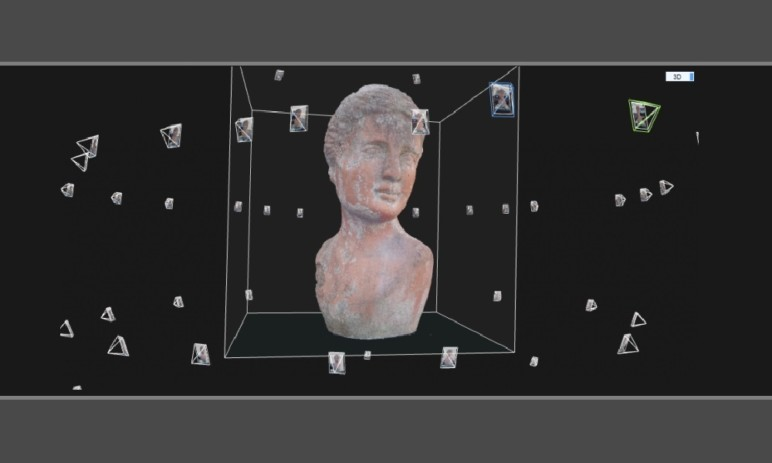 Photogammetry uses thousands of photos taken at different angles to map a 3D model.