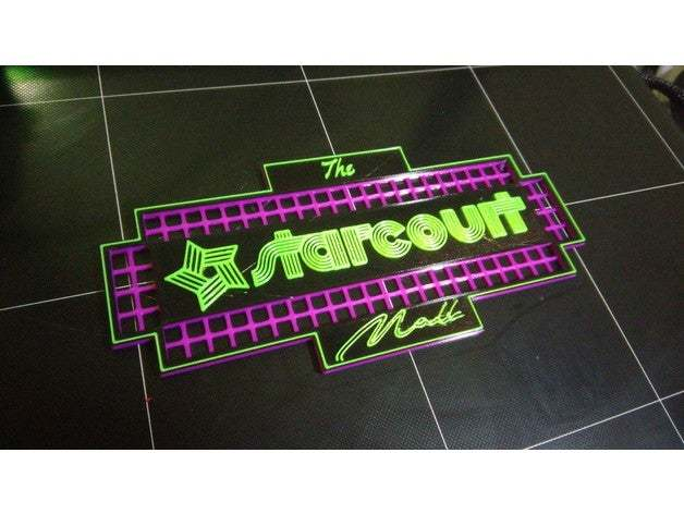 This Starcourt Mall Sign is just like the one in the show right down to the rad colors!