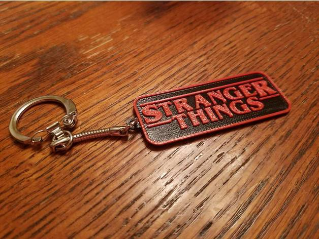 Nothing says you're a fan like a custom Stranger Things key chain.