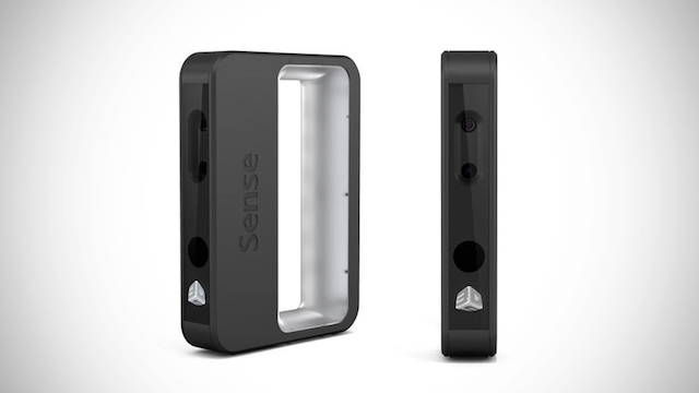 3D Systems' Sense3D is a handheld infrared scanner.