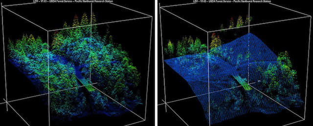 Lidar images from the 2014