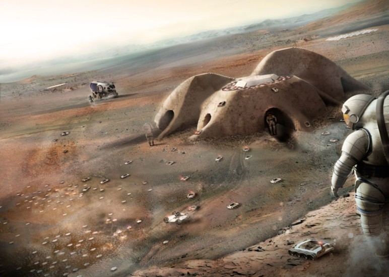 Mars habitat by Foster + Partners.