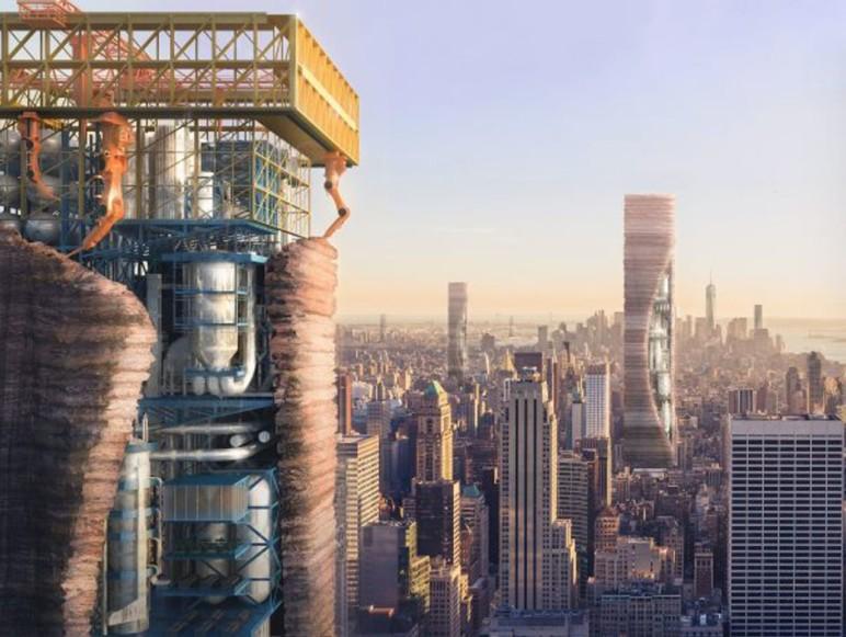 Concept design of a 3D printed skyscraper.