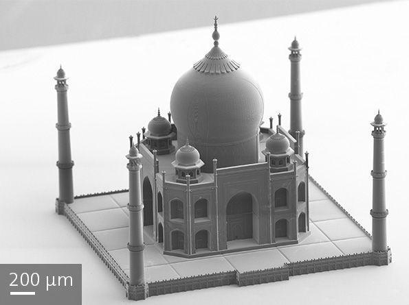 This tiny Taj Mahal was 3D printed using Nanoscribe's micrometer-level 3D printer.