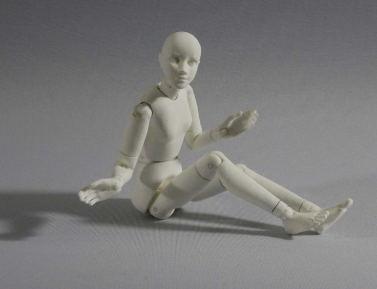 A Twelvemo doll, printed in PLA plastic.