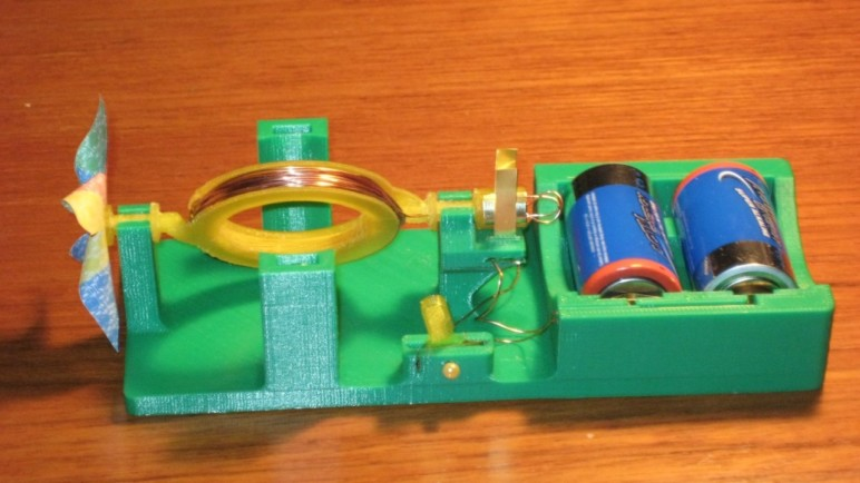 3D Printable direct current motor for education.