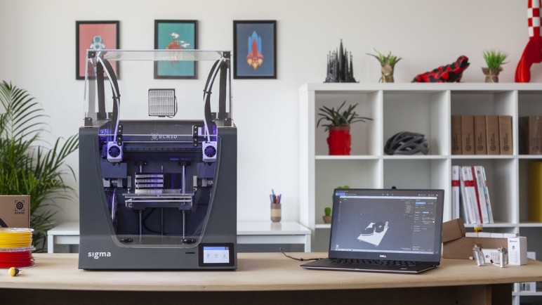 The BCN3D Sigma R19 with enclosure.