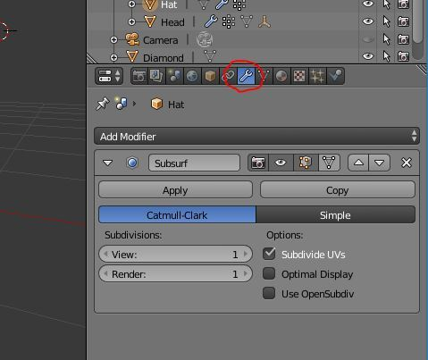The modifiers panel – visit this before working on shape keys.