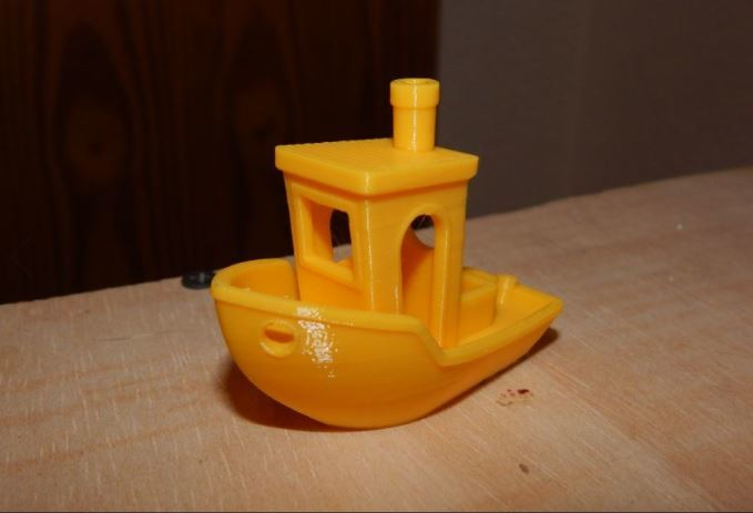 Another angle of our Benchy test.
