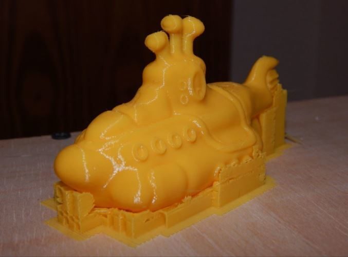The Yellow Submarine with supports still in place.