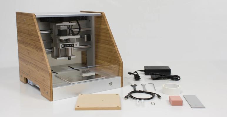 A niche desktop CNC mill, the Carbide3D Nomad.