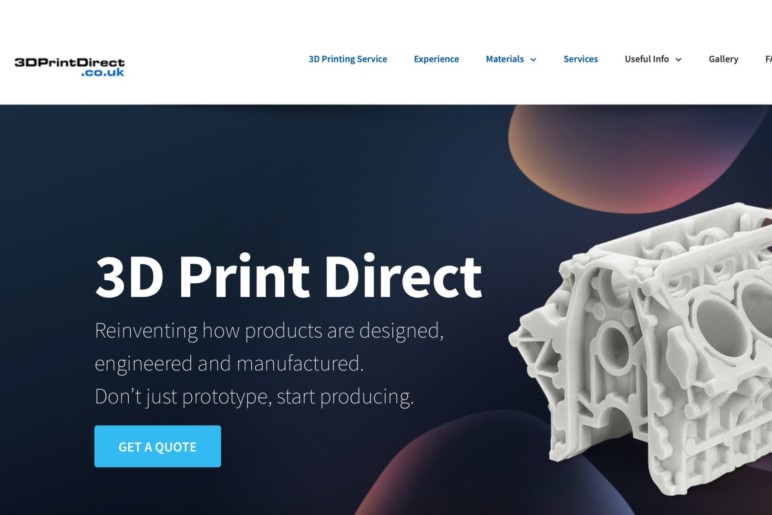 Getting a quote is easy through 3D Print Direct's website.