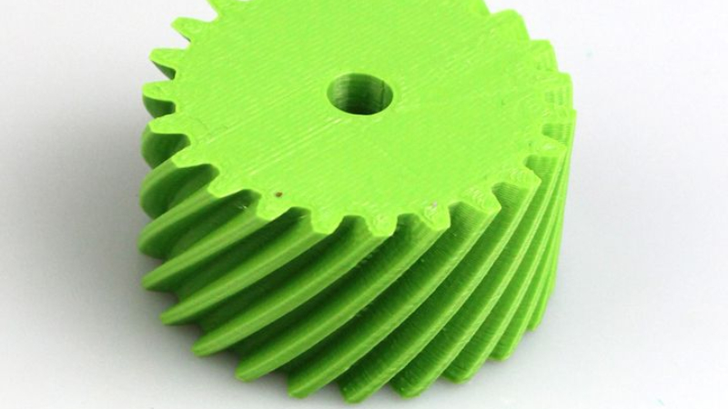 An example of a helical gear