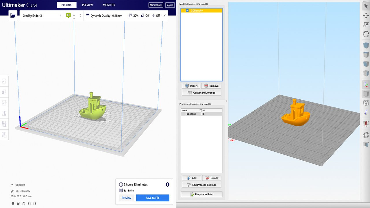 Simplify3D vs Cura: The Differences | All3DP