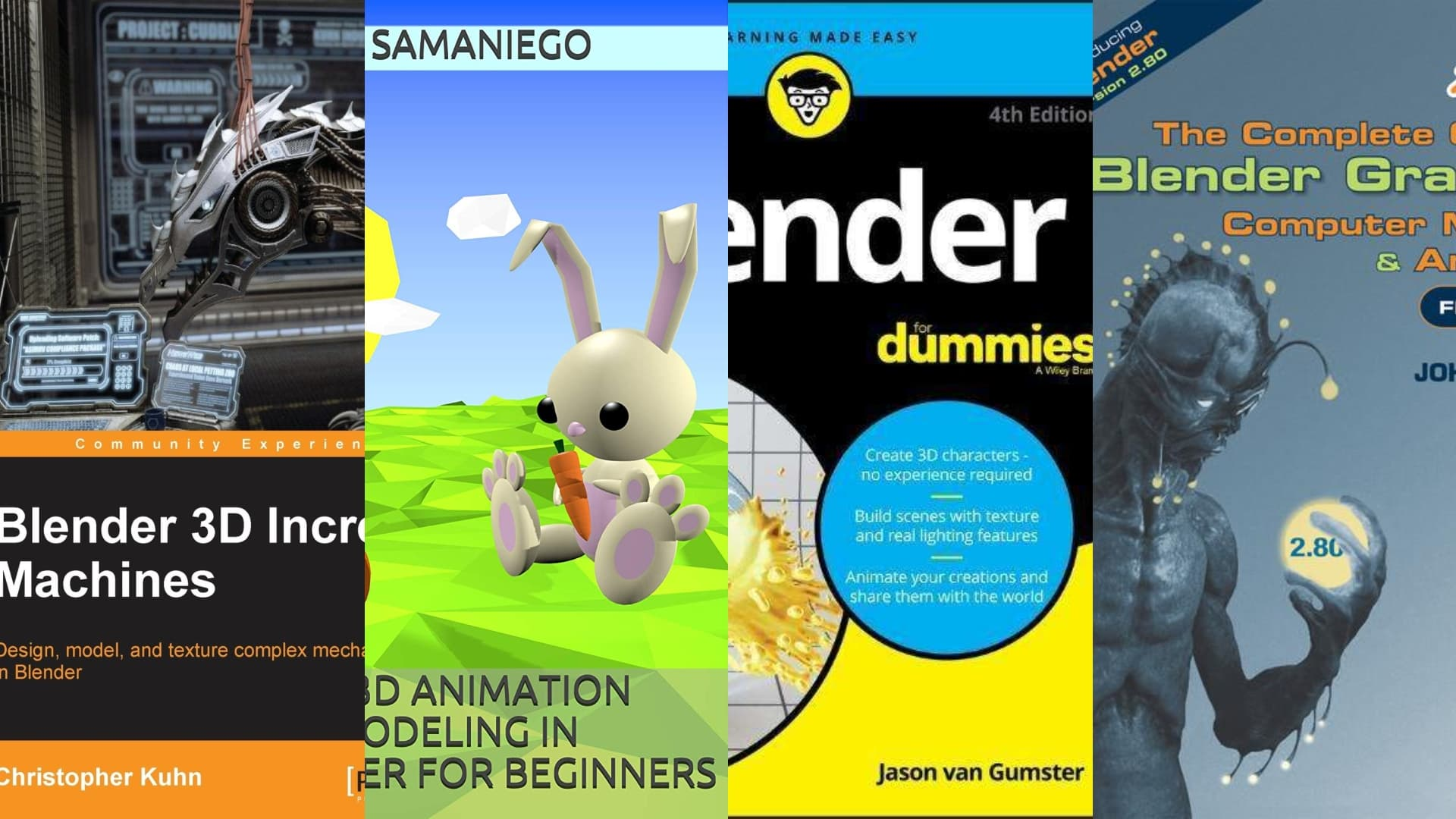Blender 2.8 Books: An Overview | All3DP